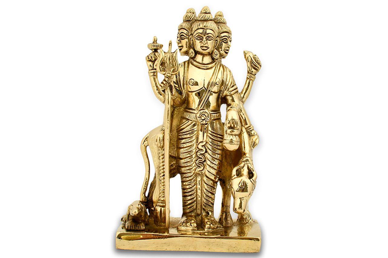 Dattatreya Statue in Brass