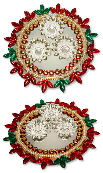 Decorated Puja plate