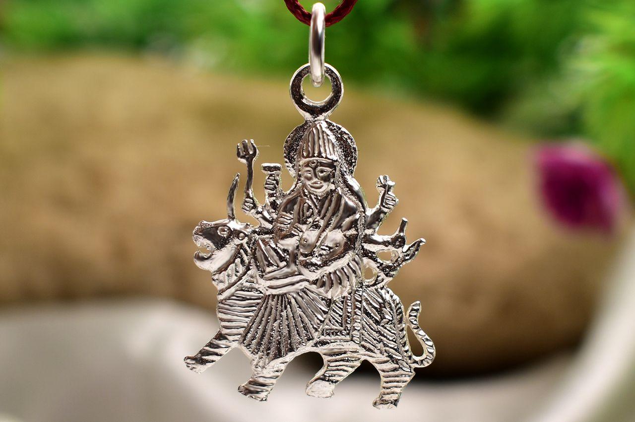 Durga Locket - in Pure Silver - Design VII