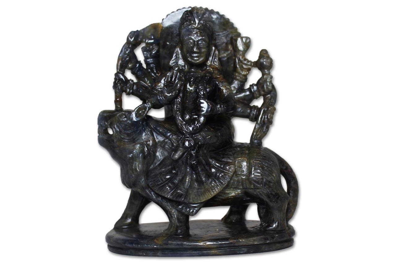 Durga Maa in Blue Sapphire