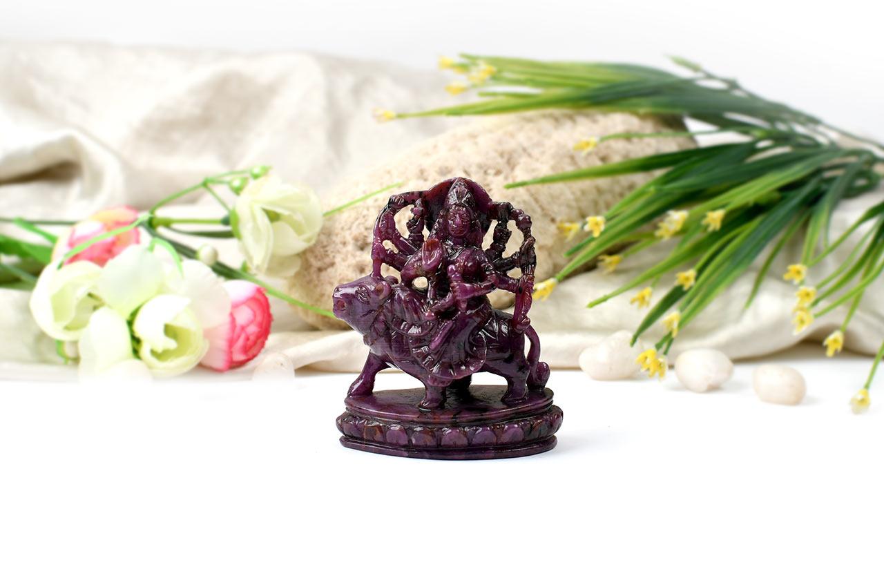 Durga Maa in Ruby - 753 carats