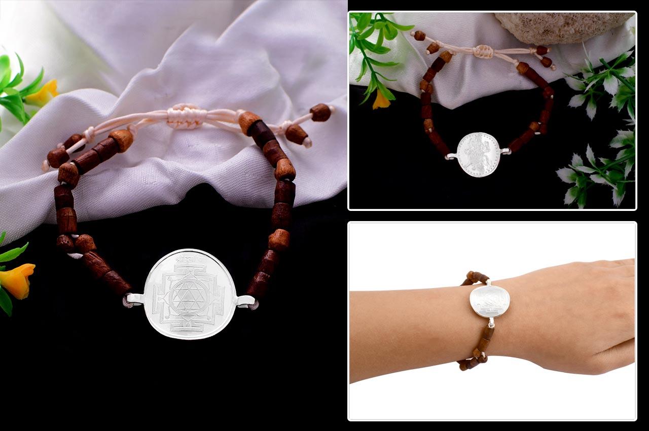 Durga Yantra in Silver Bracelet