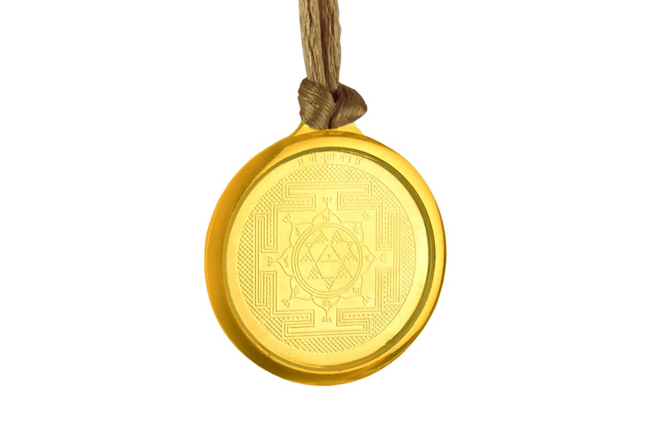 Durga Yantra Locket - Gold Plated