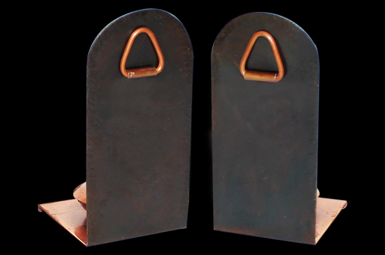 Enameled Copper Incense Stand - Set of 2