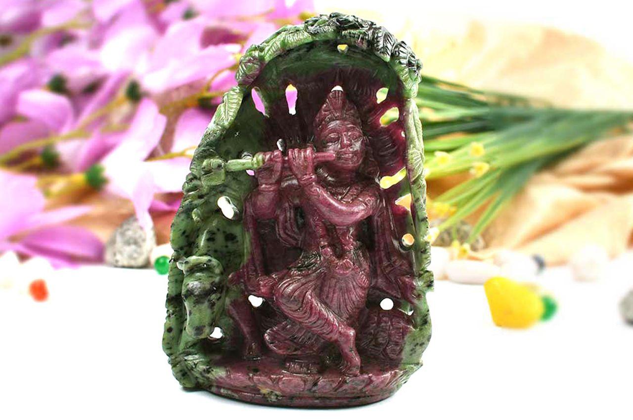 Enchanting Ruby Krishna - 475 gms