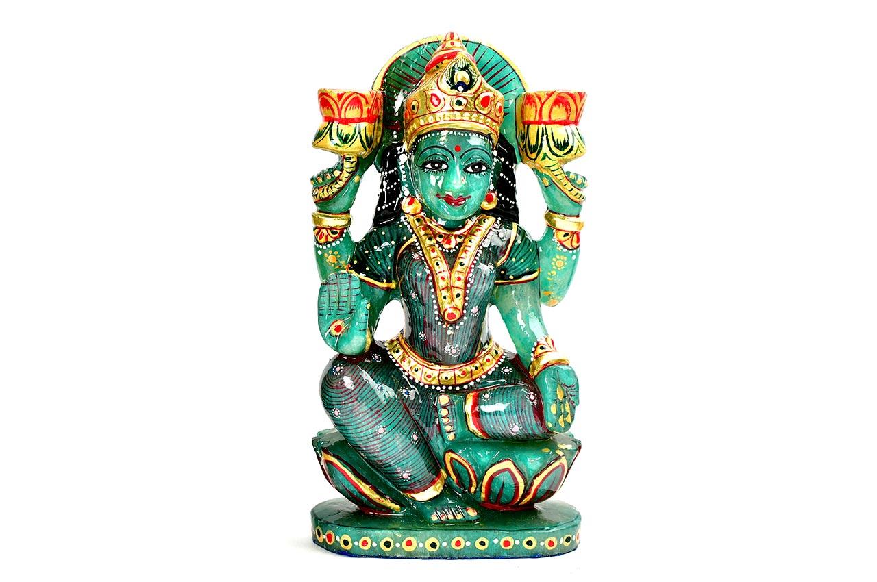 Exotic Laxmi in Green Jade - 1.156 Kgs