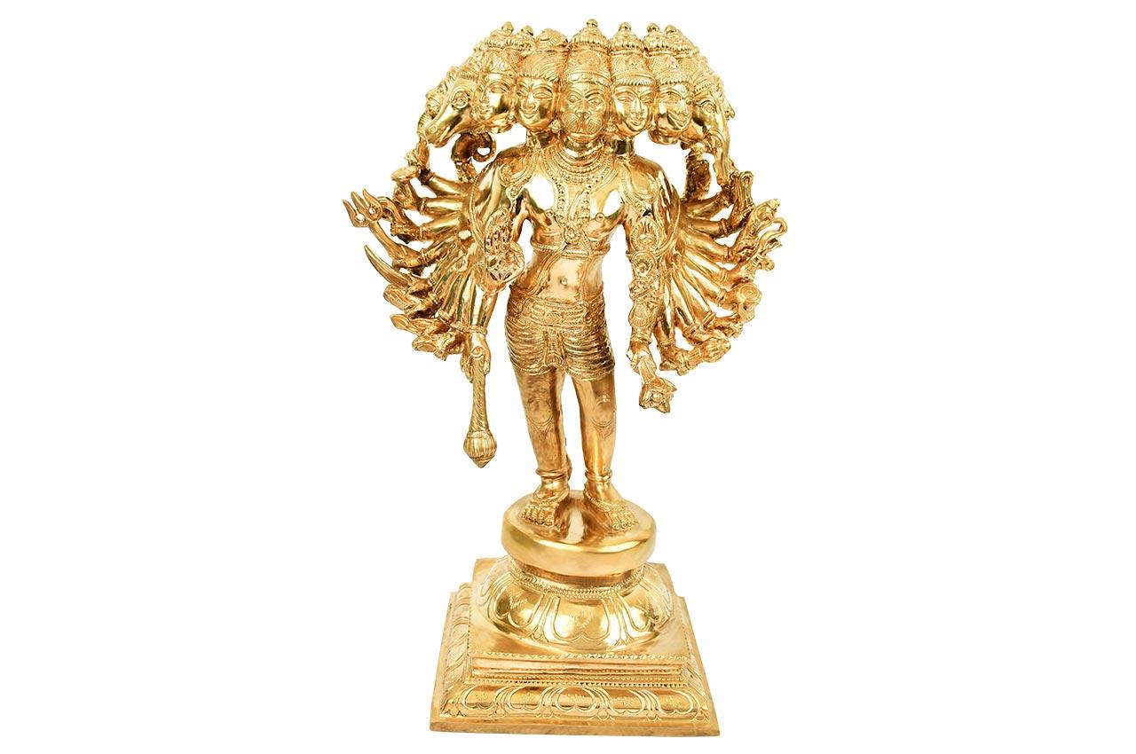Ekadash (11 Face) Hanuman Idol in Bronze