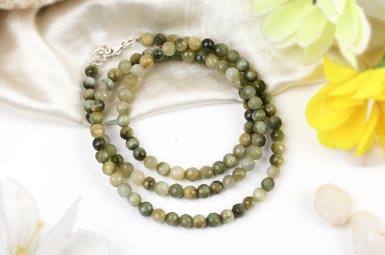 Faceted cats eye - 5mm