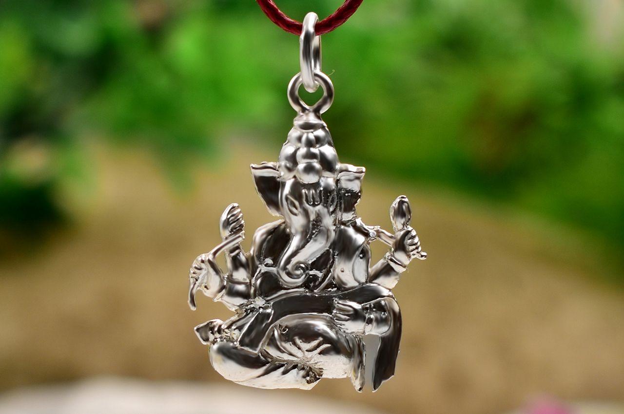 Ganesh Locket - in Pure Silver - Design X