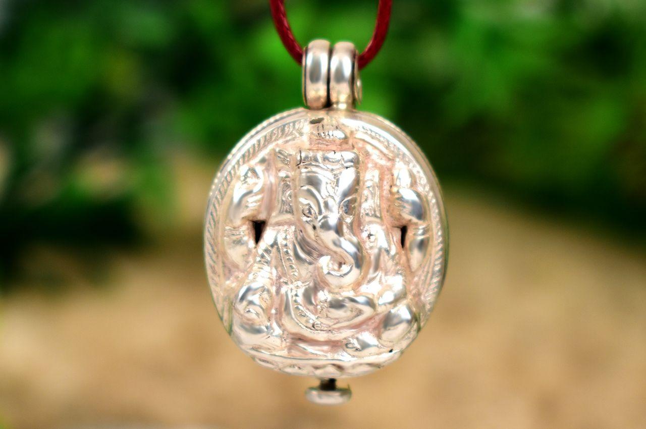 Ganesh Locket - in Pure Silver - Design XXXVI