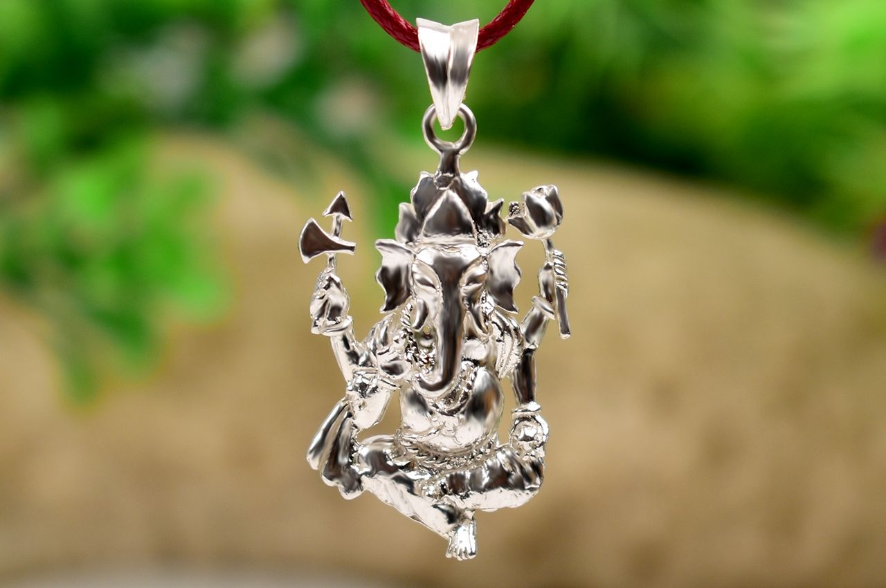 Ganesh Locket in Pure Silver - Design XXXVII