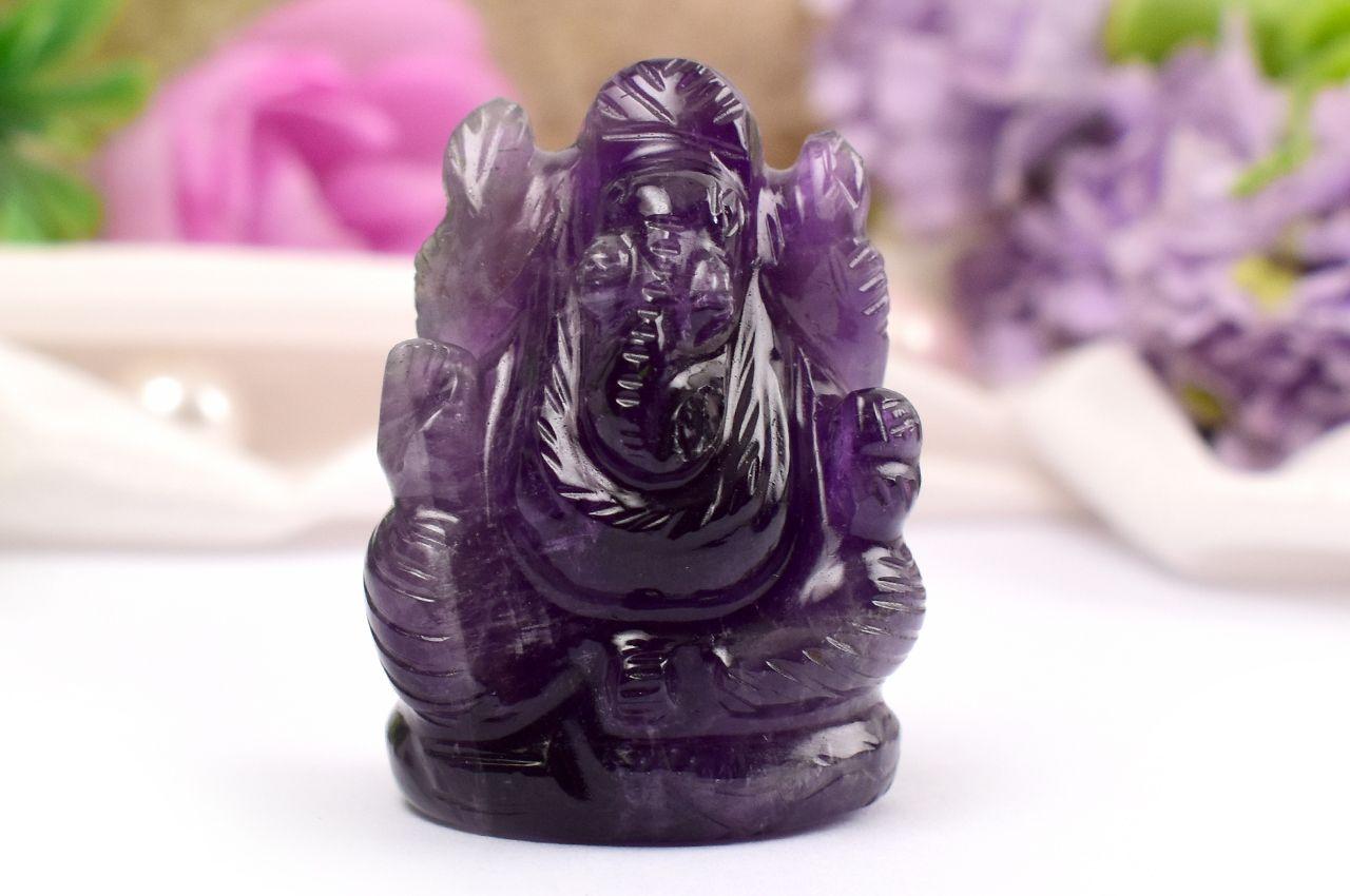 Ganesha in Amethyst - 24 gms
