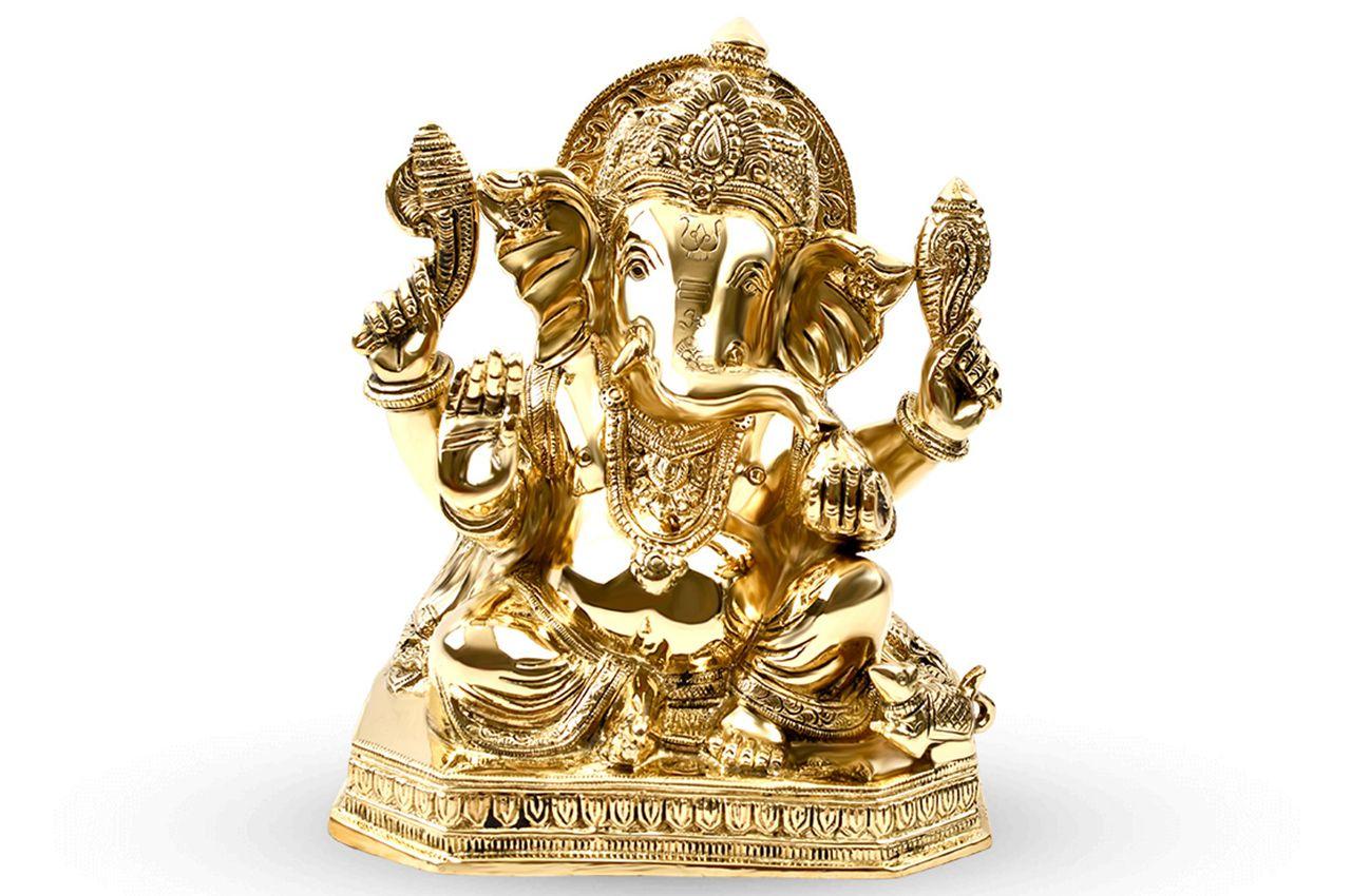 Ganesha in Brass - X
