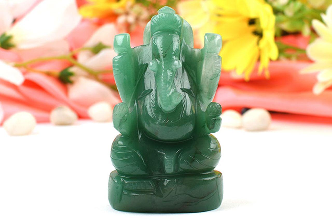 Ganesha in Light Green Jade - 166 gms