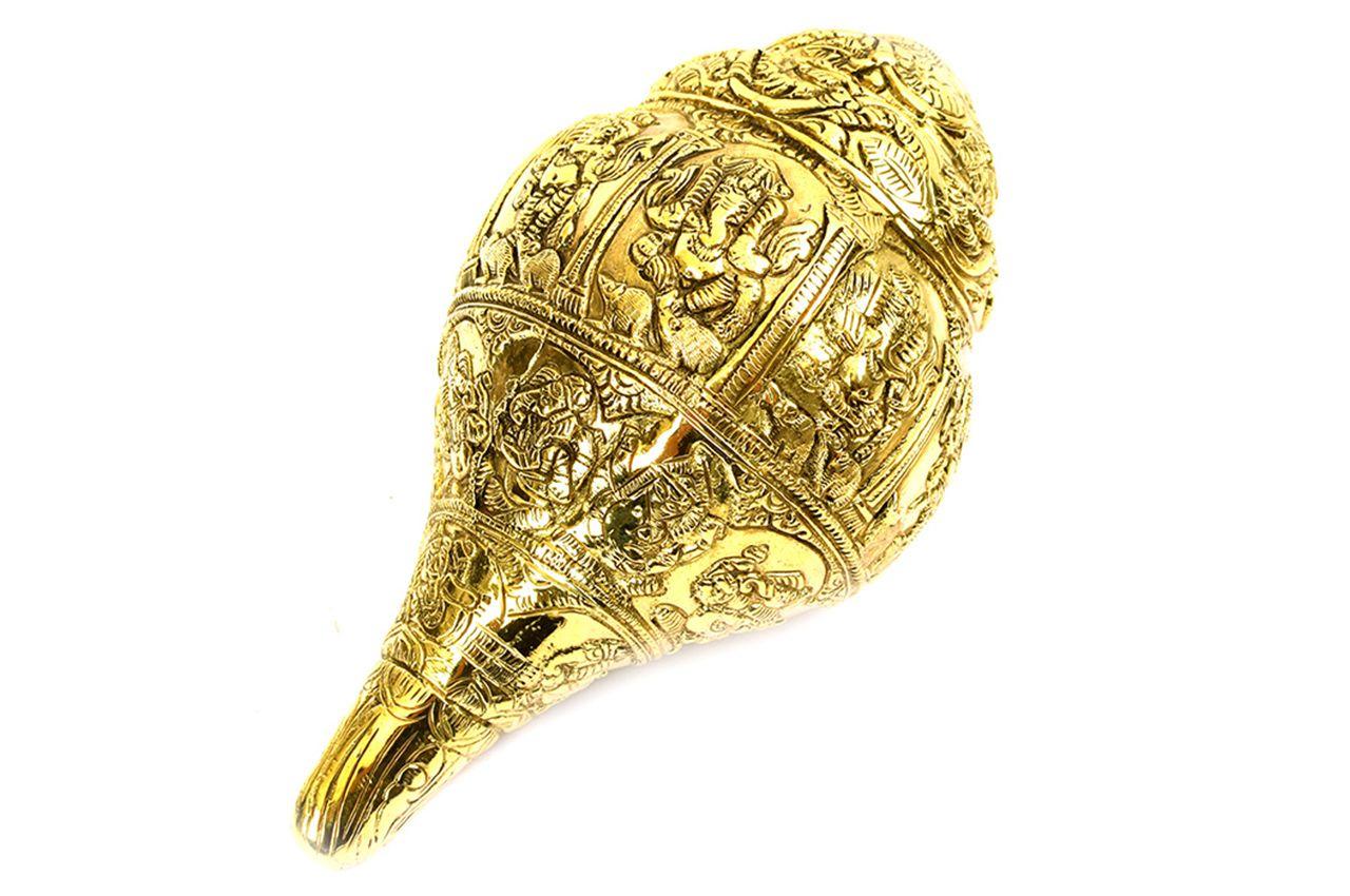 Ganesha Shankh - Brass