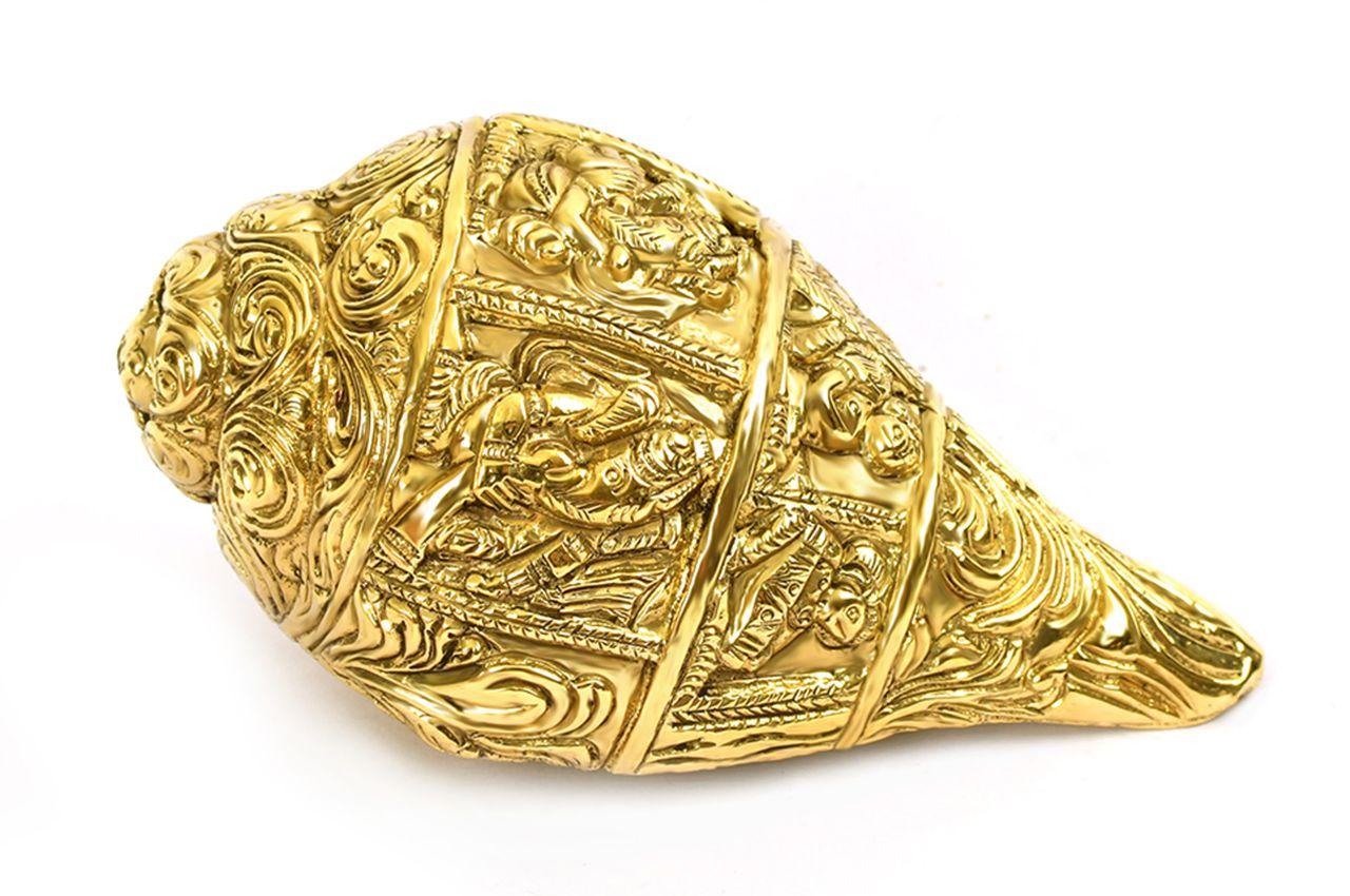 Ganesha Shankh in Brass