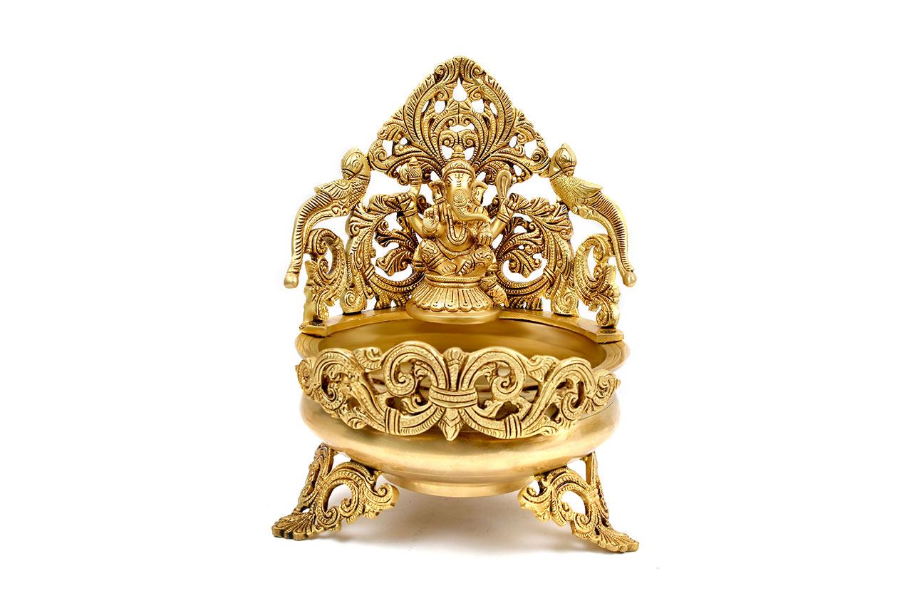 Ganesha Urli in Brass