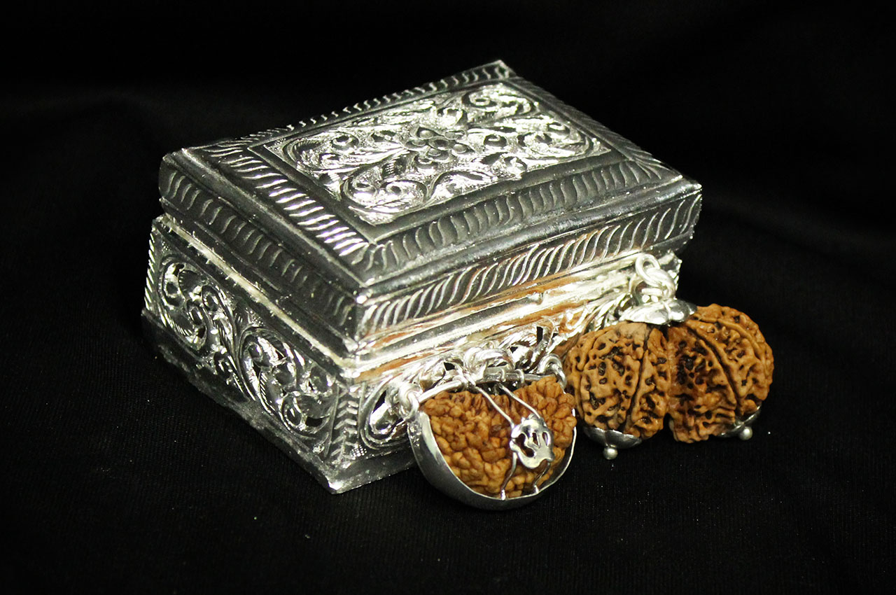 German Silver Rudraksha Chest