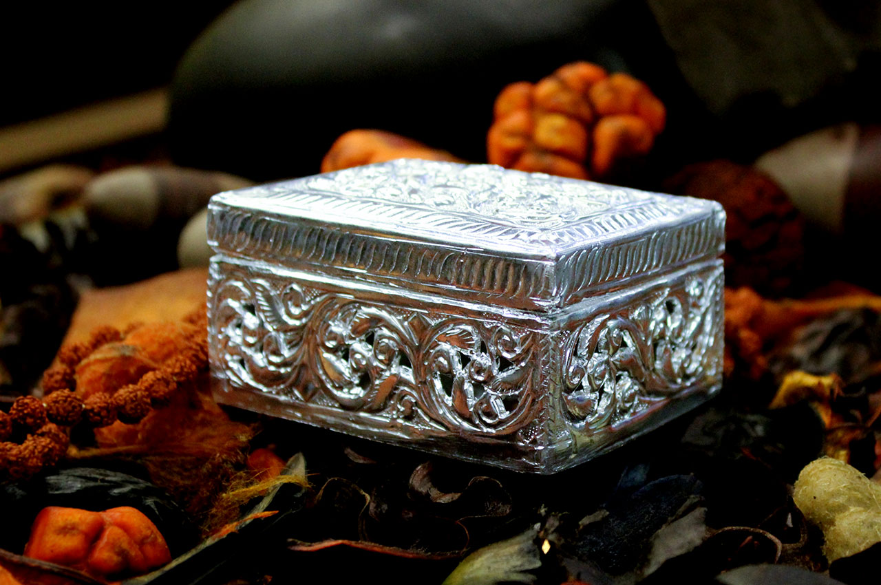 German Silver Treasure Box