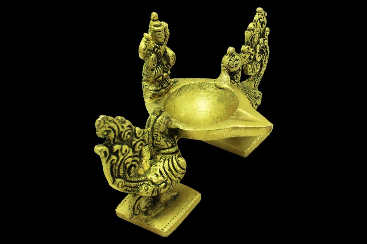 Golden Peacock diya