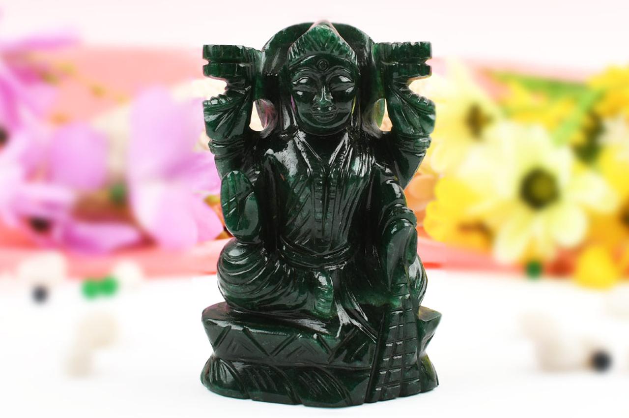 Green Jade Mahalaxmi - 568 gms
