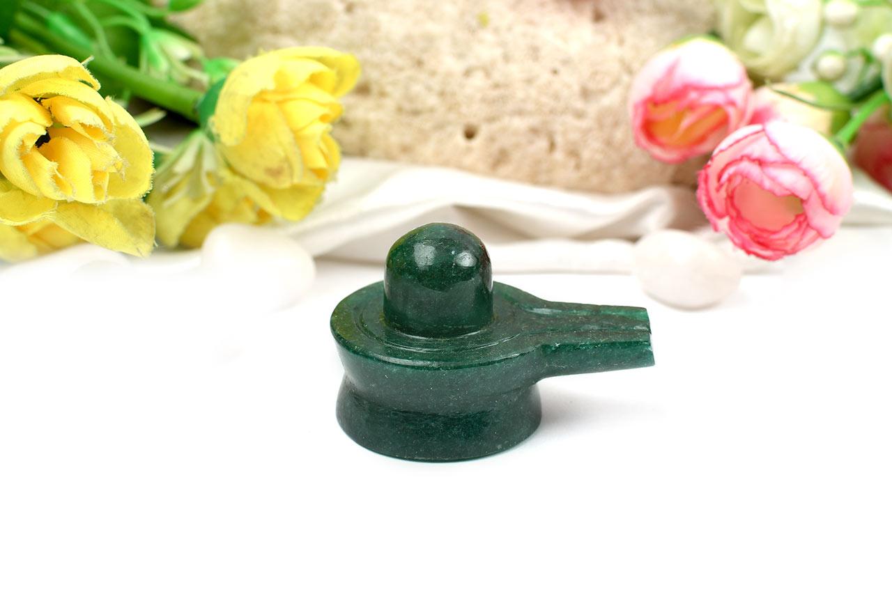 Green Jade Shivlinga - 70 gms