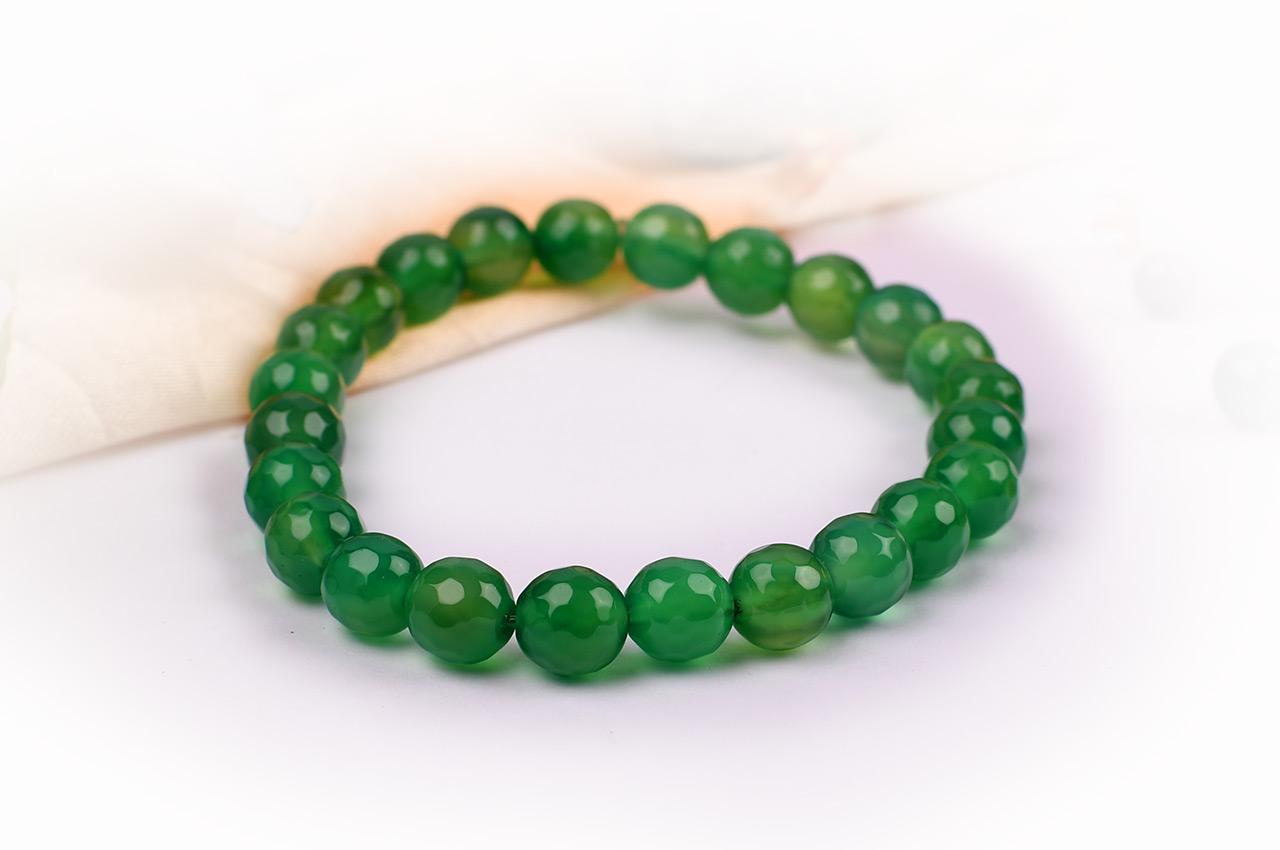 Green Onyx Faceted Bracelet