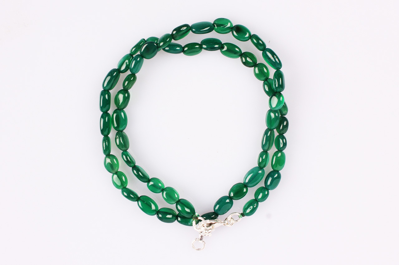 Green Onyx oval mala