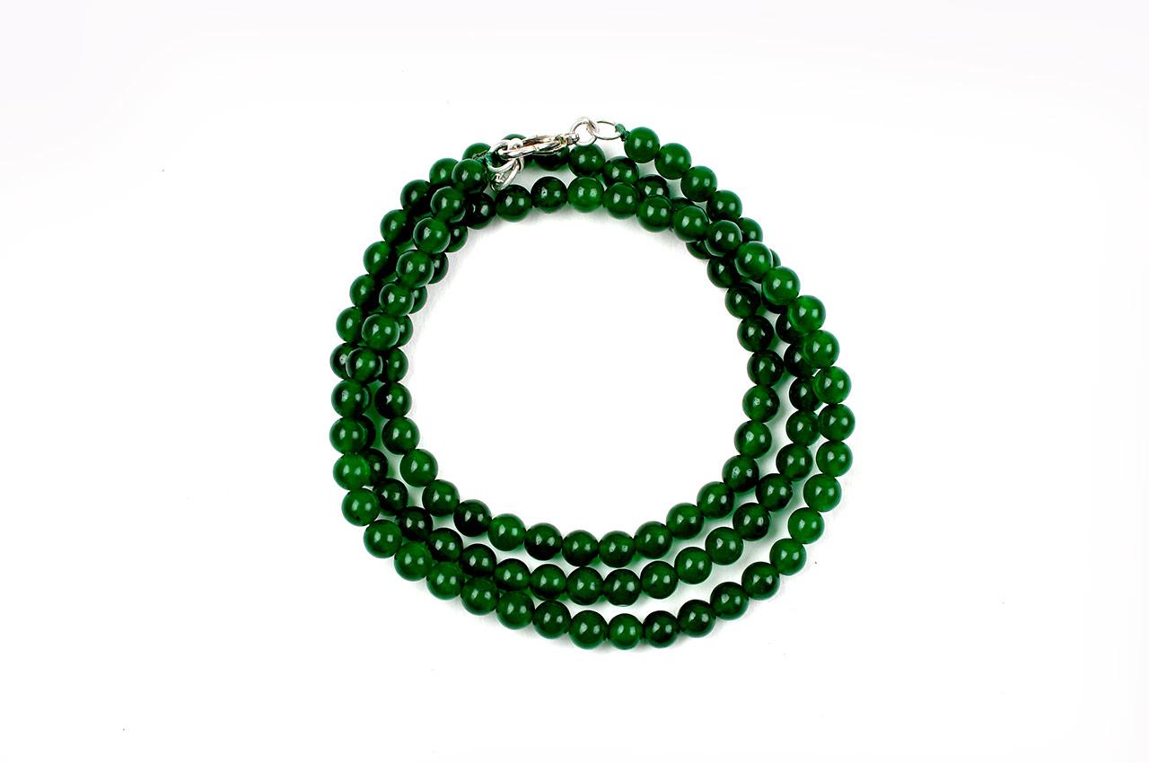 Green onyx round mala