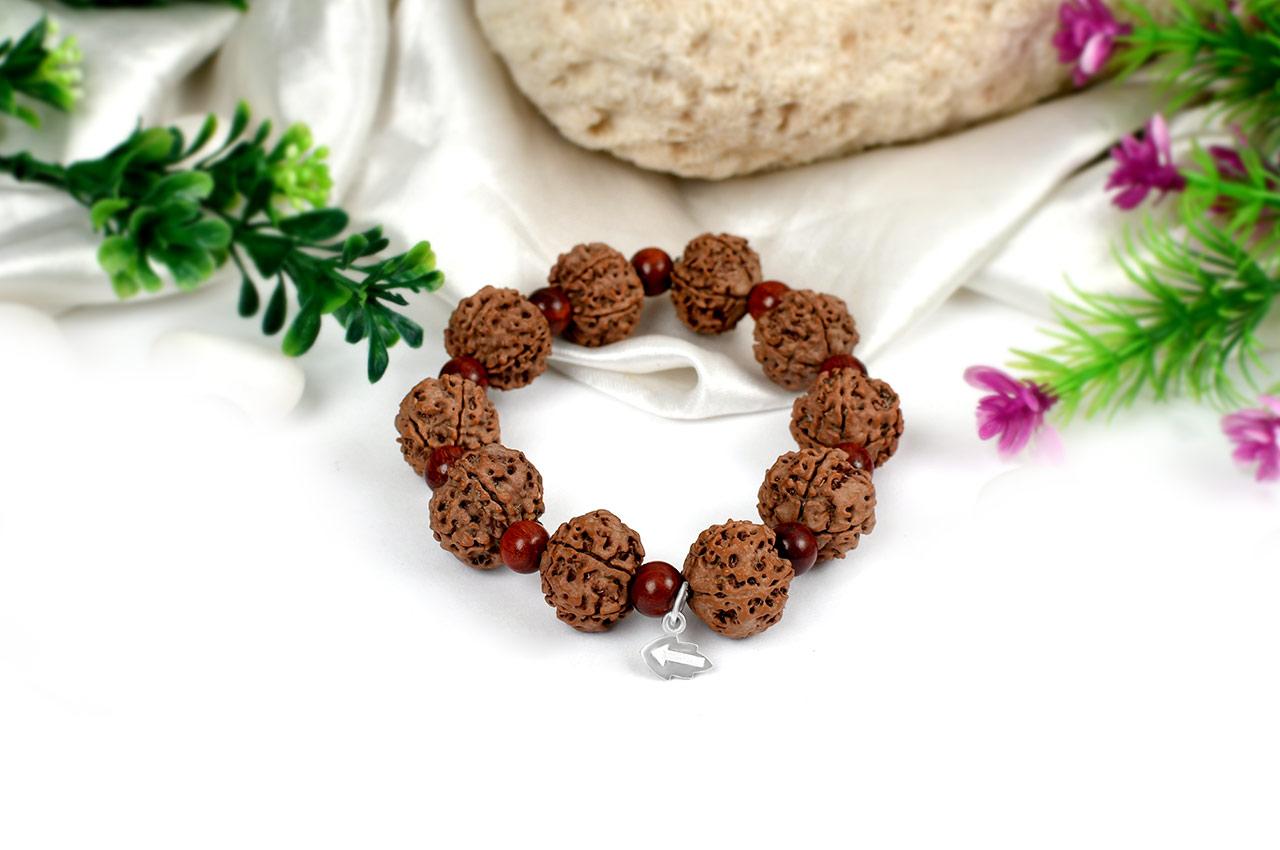 Guru Bracelet with Sandalwood beads