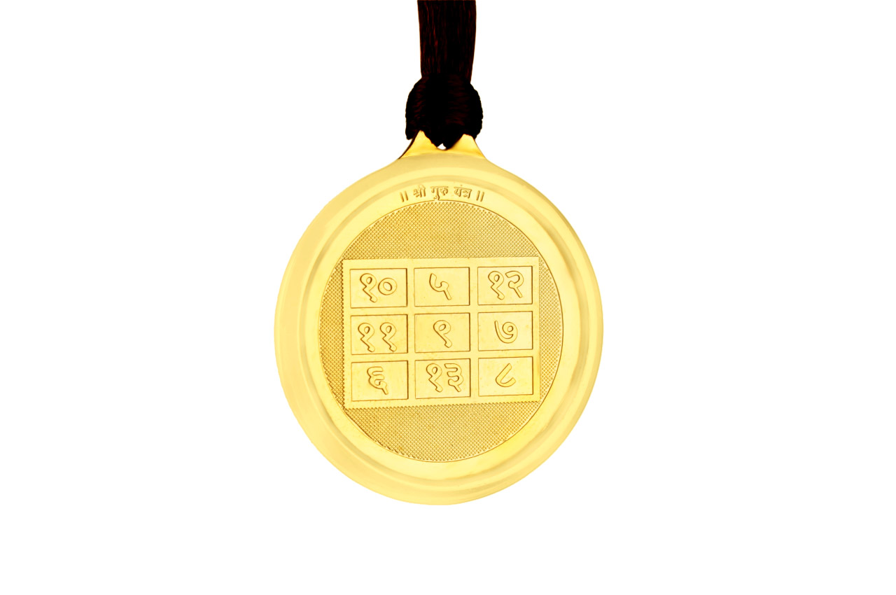 Guru Yantra Locket - Gold Plated