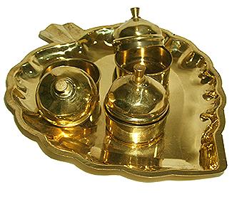Haldi Kumkum containers in brass