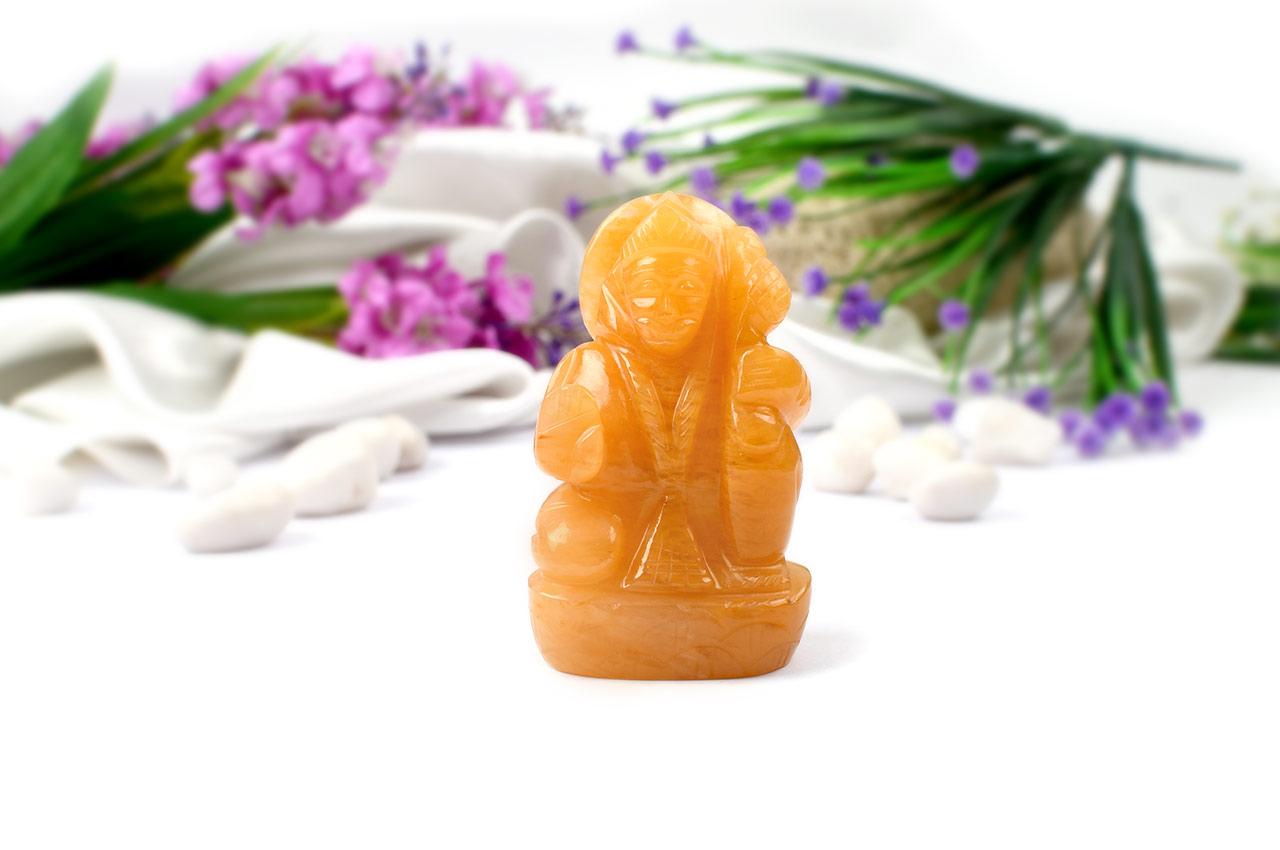 Hanuman in Yellow Jade-231 gms
