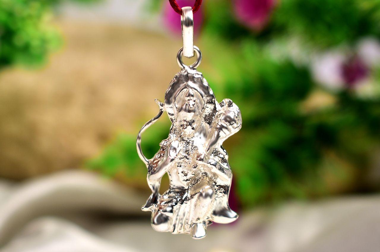Hanuman locket - in pure silver - Design VI