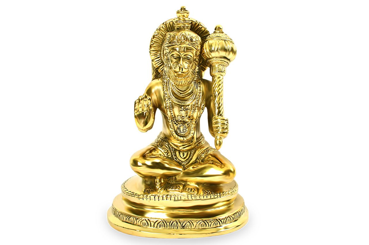 Hanuman statue in brass