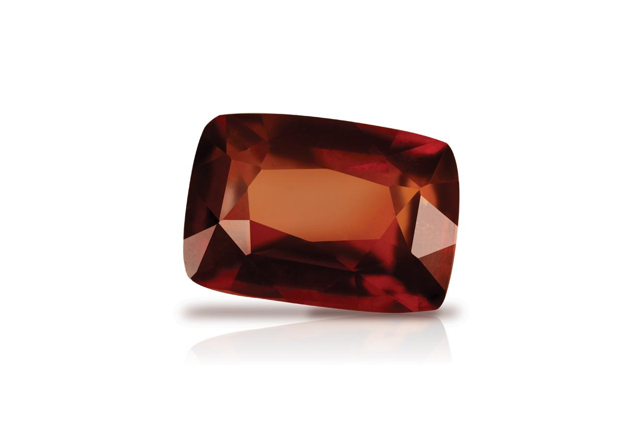 Hessonite Garnet - Gomed - 12.75 Carats - Cushion