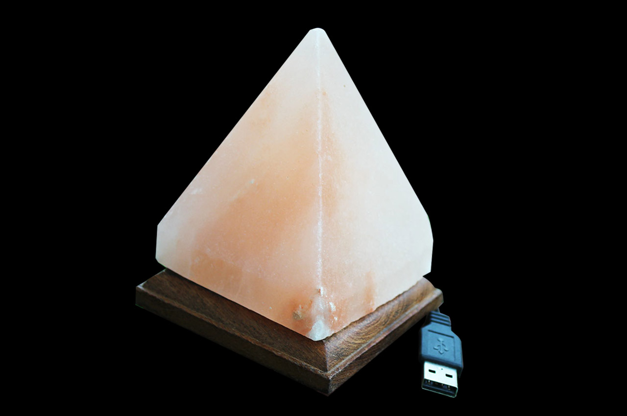 Himalayan Rock Salt Pyramid Lamp - Medium
