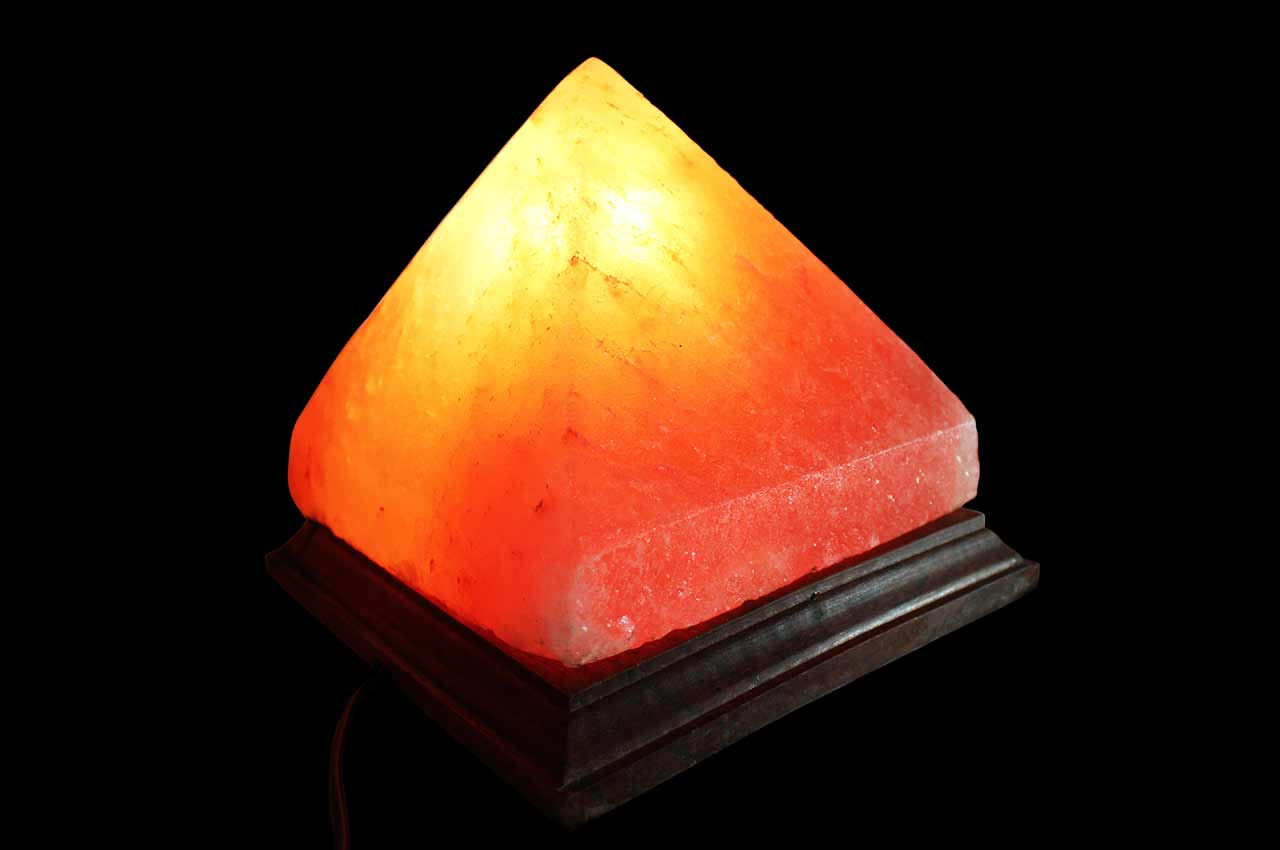 Himalayan Rock Salt Pyramid Lamp - Large