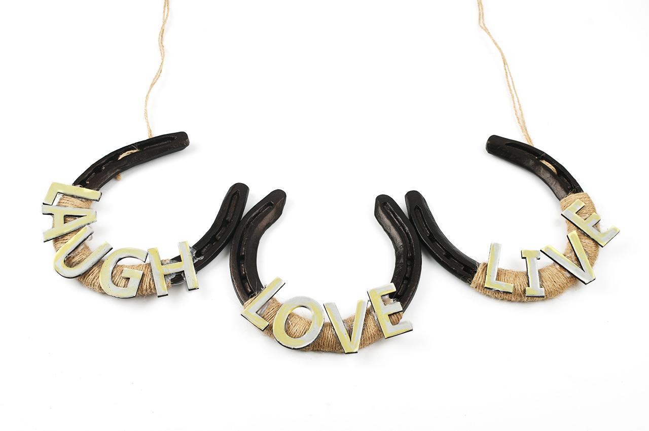Horse Shoe Artifacts - Live Love Laugh