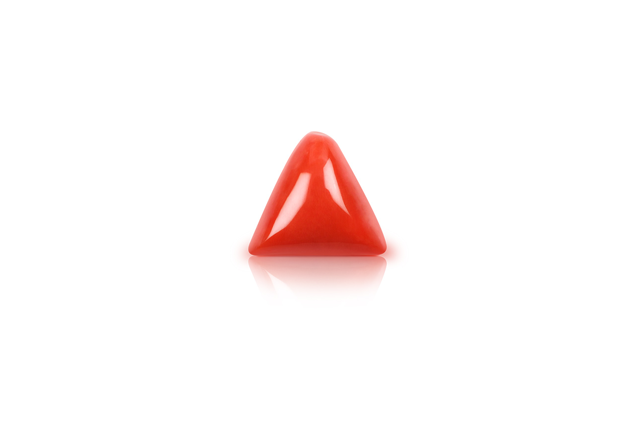 Italian Coral triangular- 18.20 carats