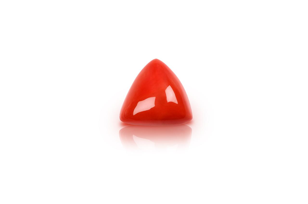 Italian Coral triangular- 29.50 carats