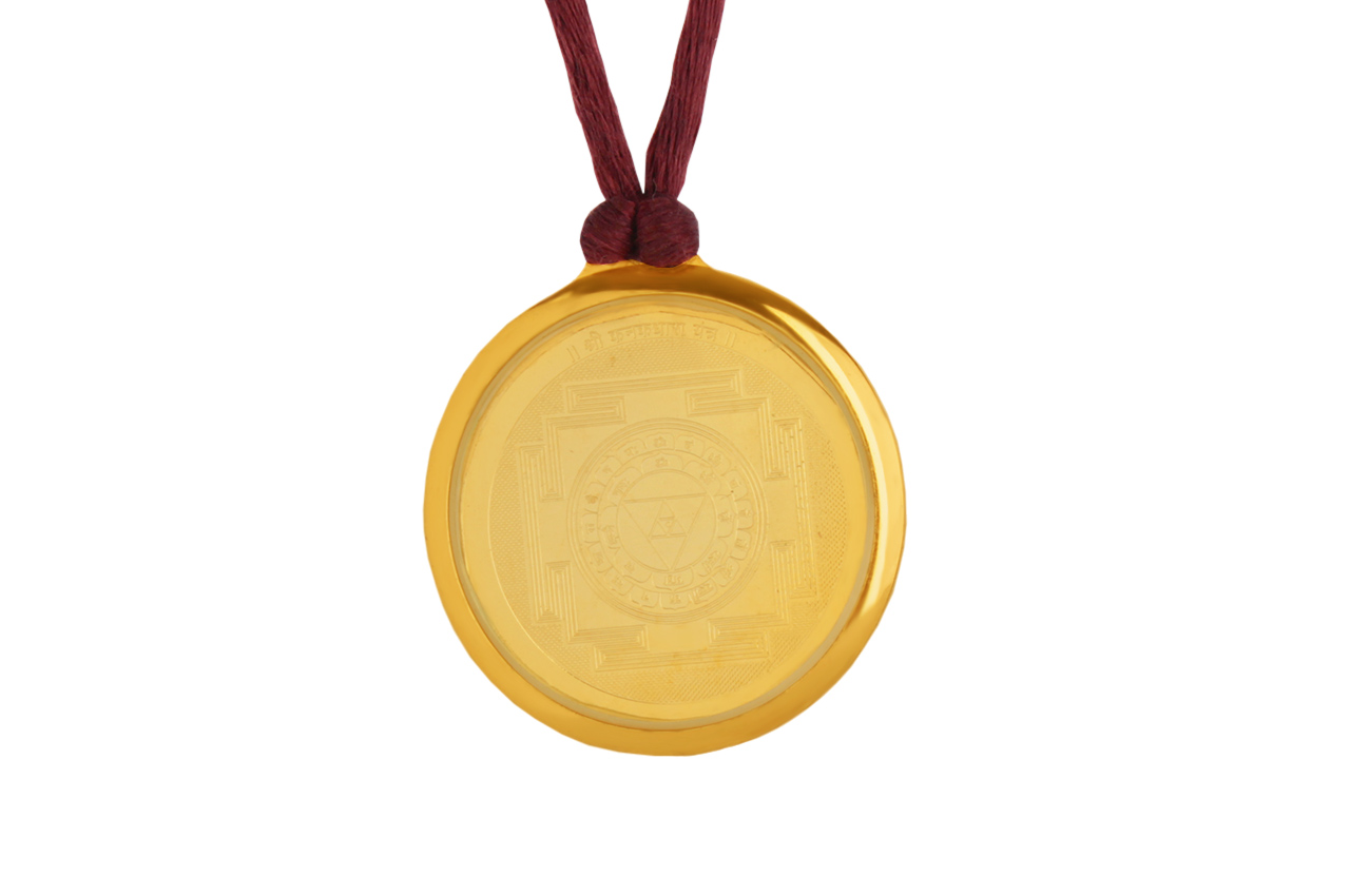 Kanakdhara Yantra Locket - Gold Plated