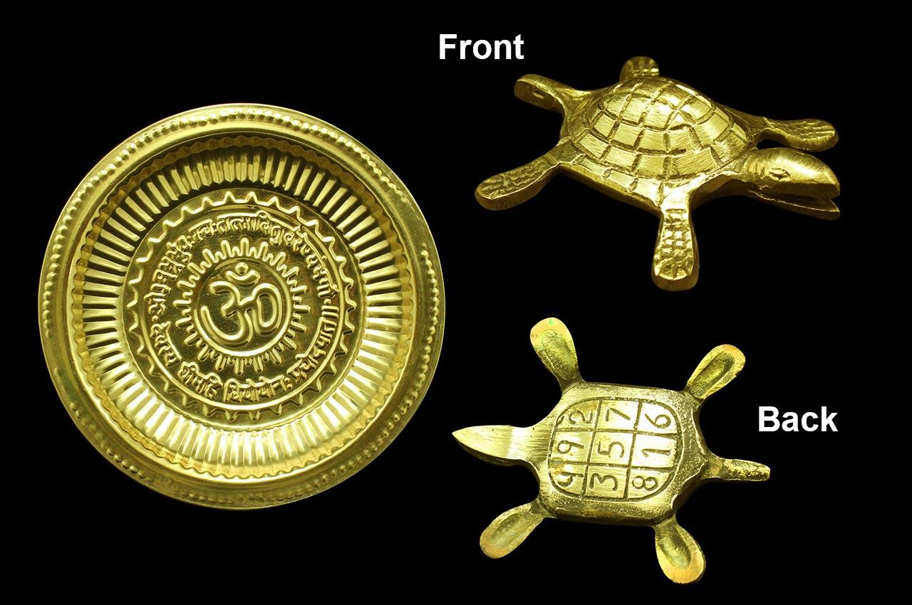 Kurma Avatar with plate - Brass