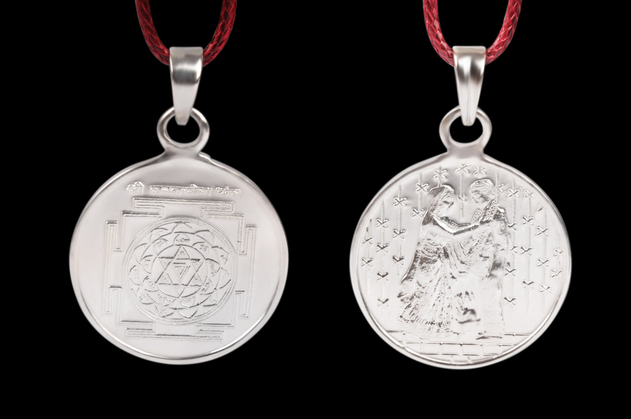 Lagna Yog Yantra Locket - Silver - Large