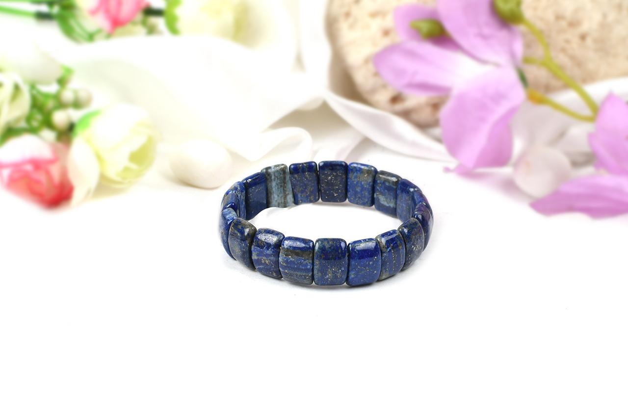 Lapis Lazuli Bracelet-Cushion beads