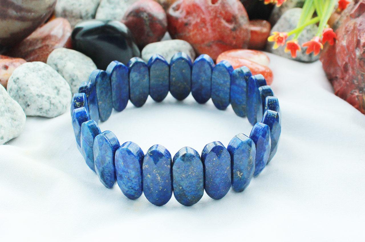 Lapis Lazuli Faceted Bracelet