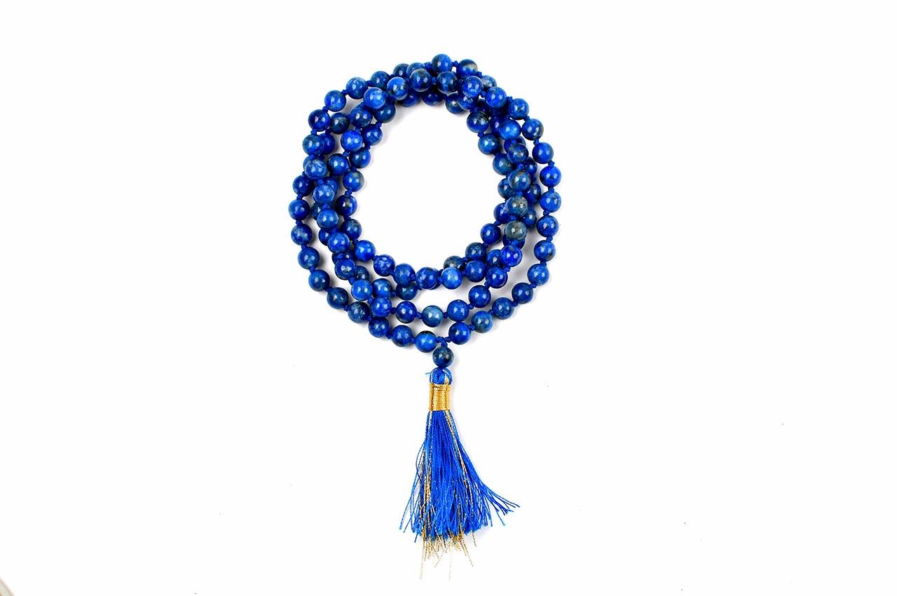 Lapis Lazuli round mala - 6 mm