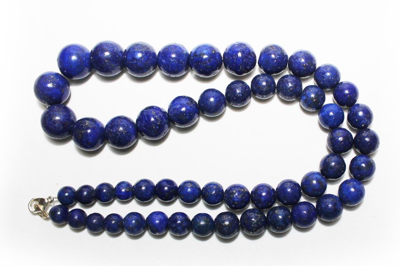 Lapis Lazuli round mala 8mm to 15mm