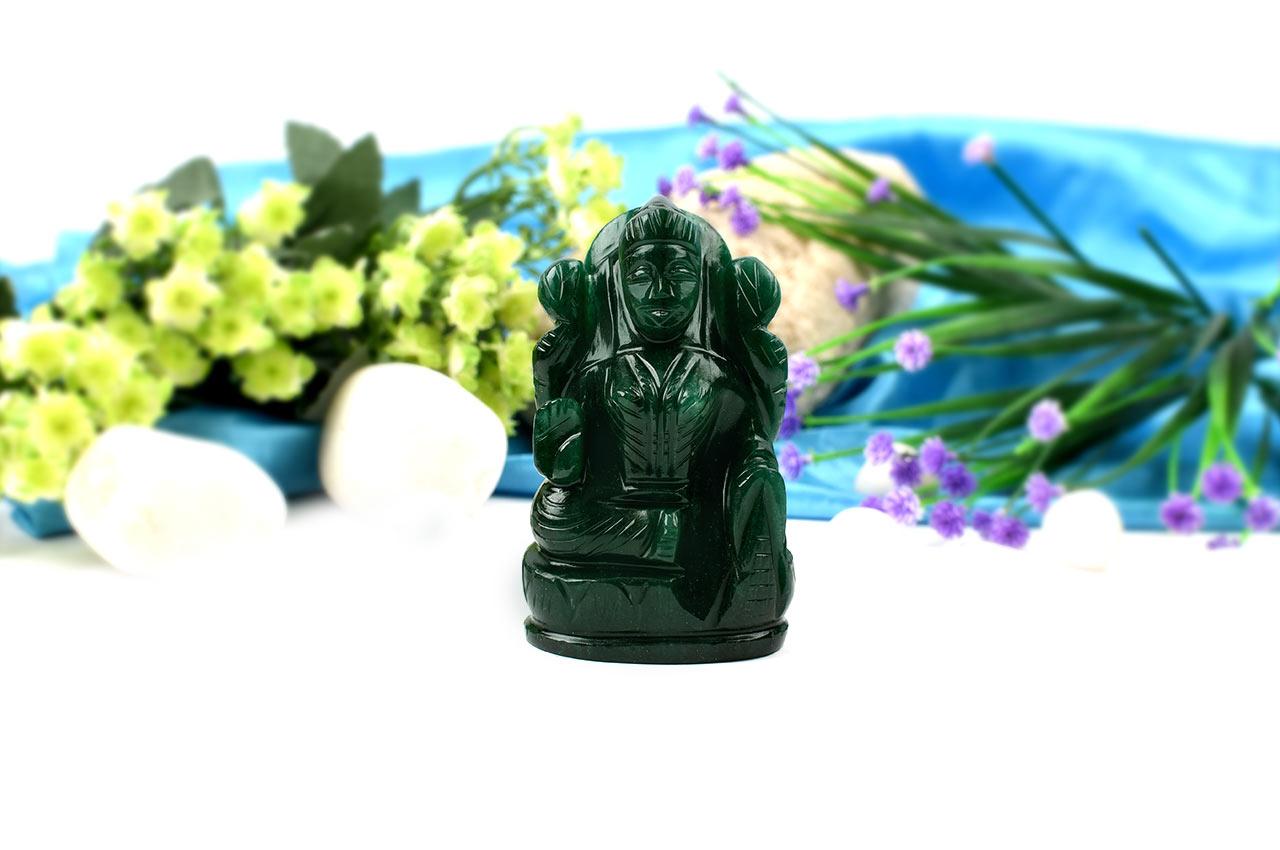 Laxmi in Green Jade-247 gms