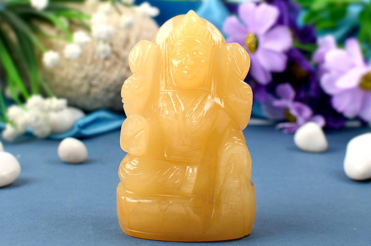 Laxmi in Yellow Jade - 264 gms